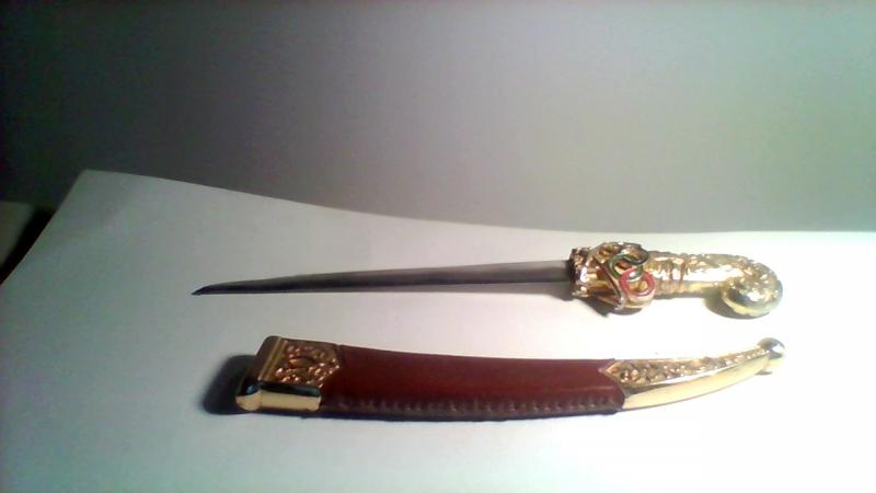 Gold Plated Olympic Games Knife with Metal Case